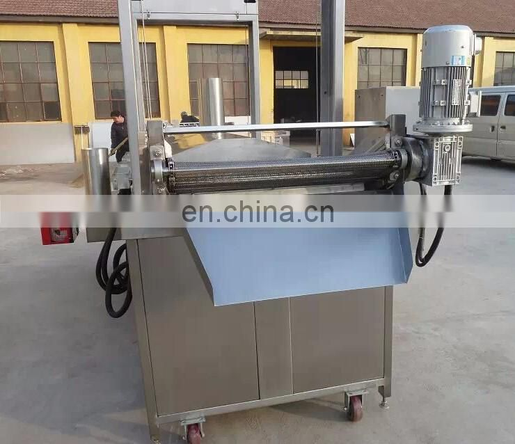 samosa frying machine continuous frying machine fryer electric or gas heating 200kg/h top quality