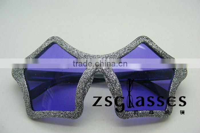 Cheap promotional star shaped purple color sunglasses for halloween