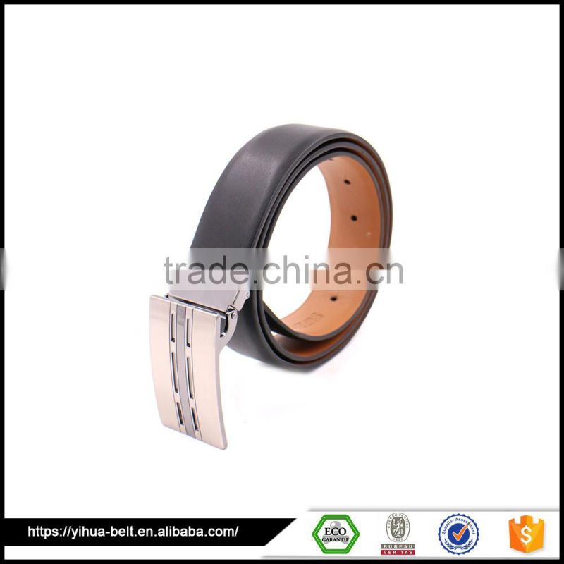 factory classical customized man leather belt with metal belt