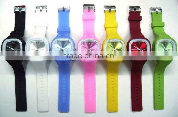 Business advertising promotion gift premiums decorative colorful personalized silicone watch