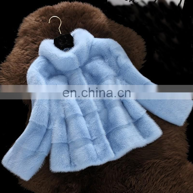 2016 new pattern mink fur topcoat whole skin ladies fur garment
