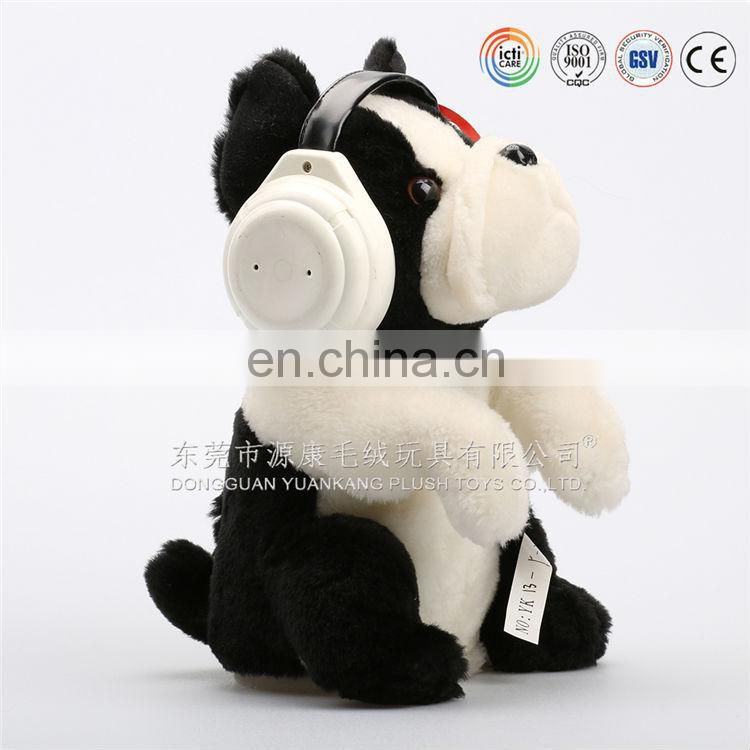 Electronic plush baby tiger for kids musical plush tiger with earphones