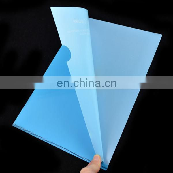L shape clear decorative pp file folders