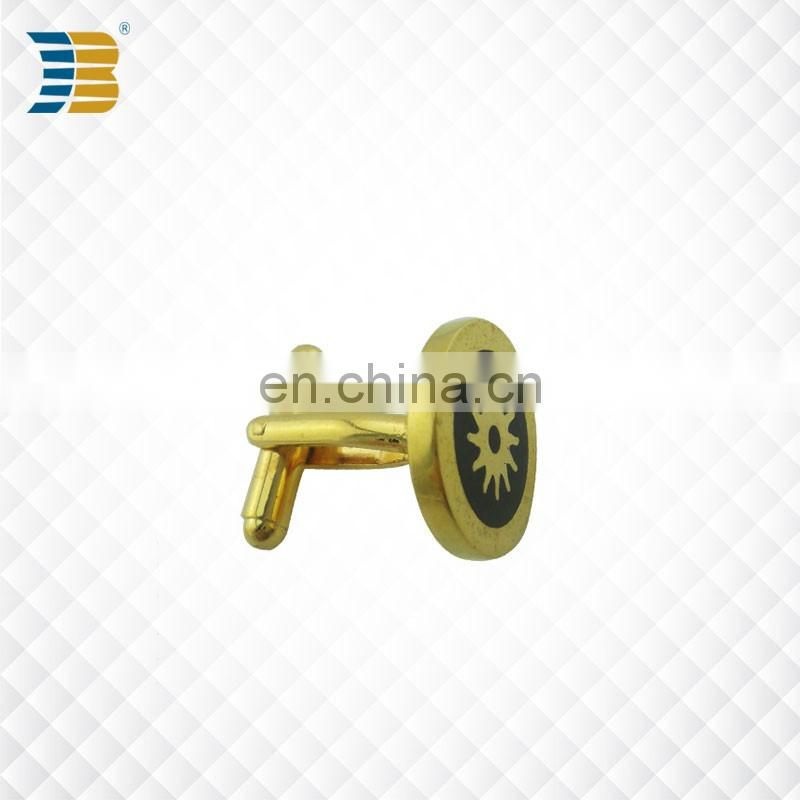 Jiabo custom gold plating blank metal cufflink for men
