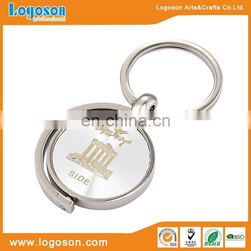 Hot Selling Promotional Cheap Price Round Shape Customized Metal Keychain