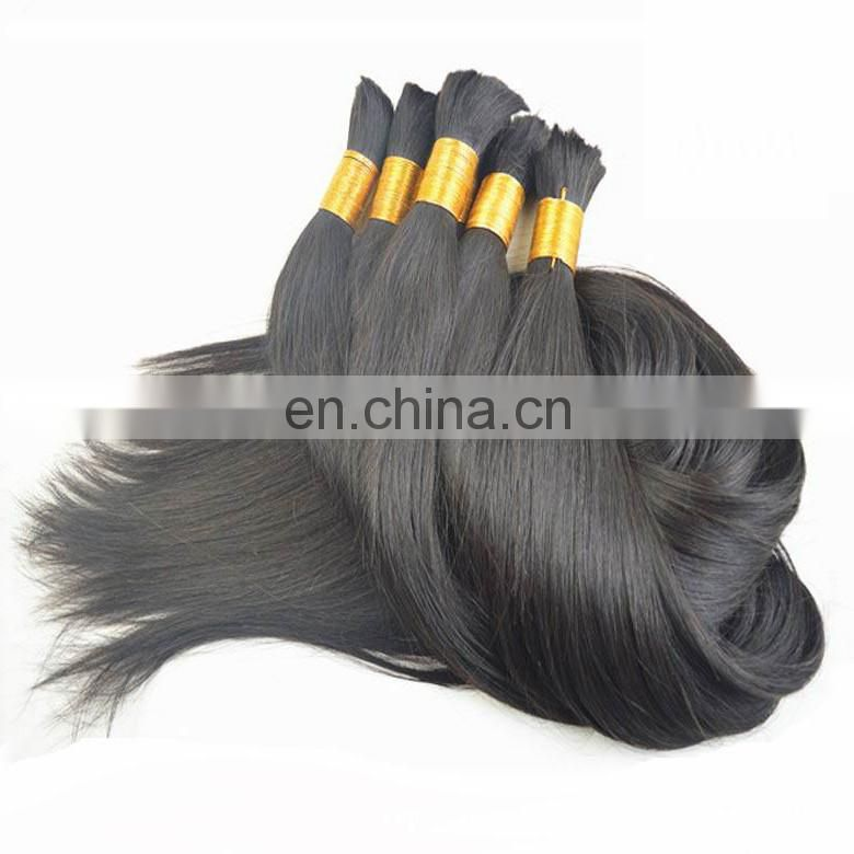 high quality full cuticle intact virgin brazilian raw hair bulk