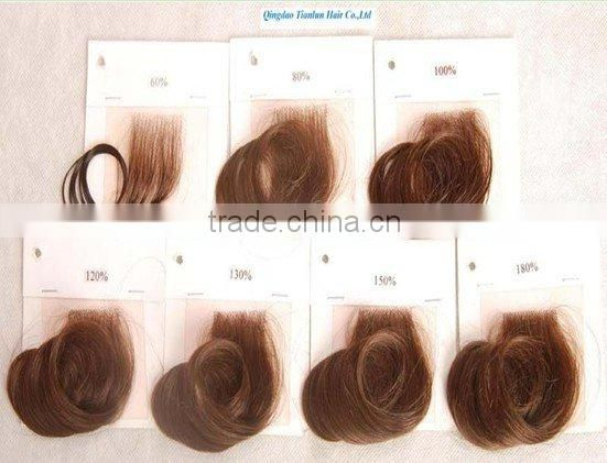 #30 Body wave 20 inches 100% Indian remy human hair lace wigs accept customer order