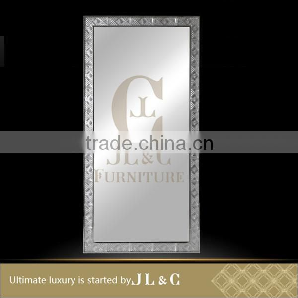 JM14-01 Crystal Floor Mirror with Solid Wood Antique in Living room from JL&C Luxury home Furniture New Designs (China Supplier)