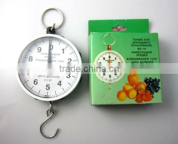 Portable luggage hanging spring fishing scale