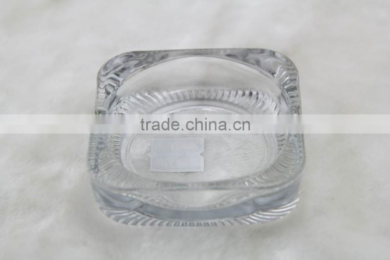 glass ashtray, clear square glass ashtray for smoking
