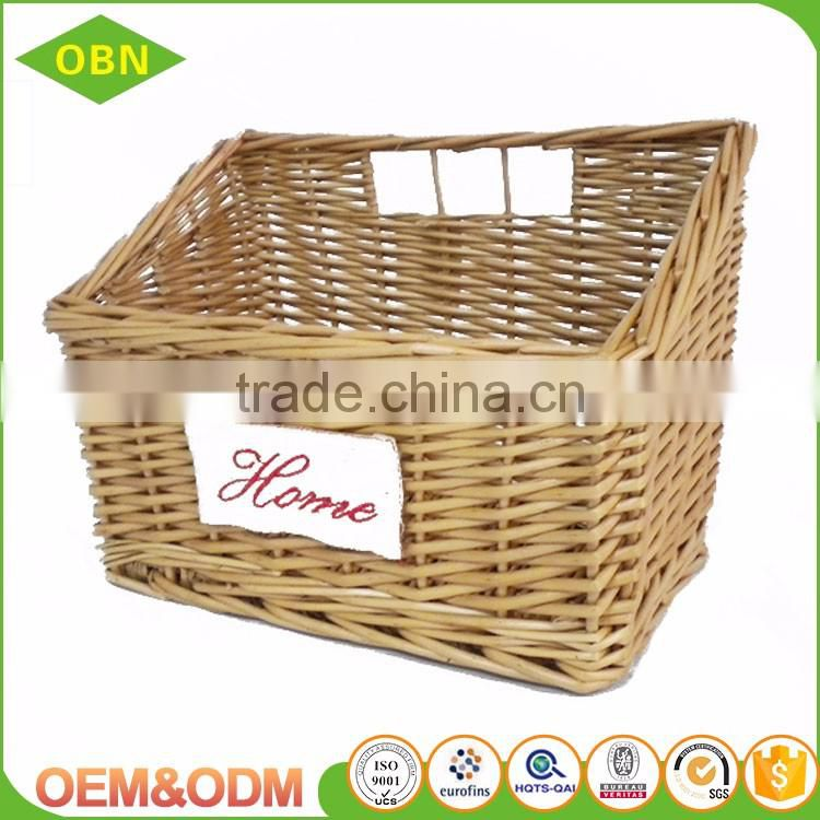 Manufacture pure Handmade eco-friendly custom wicker rattan material fresh rising bread basket