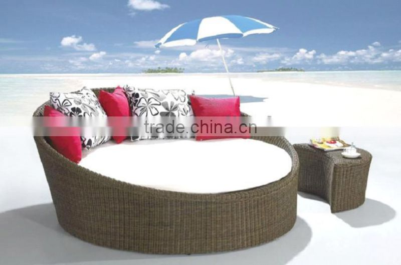 outdoor day beds wicker /rattan with tea table WYHS-T181