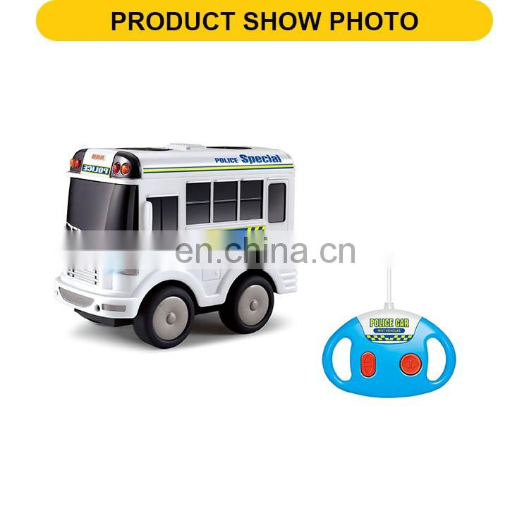 New product 4 channel remote control cartoon car the plastic vehicle toys with music & light