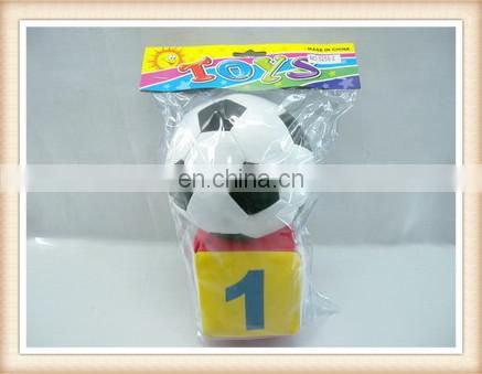kids stuffed 3inch number toy dice 3.5inch football toy