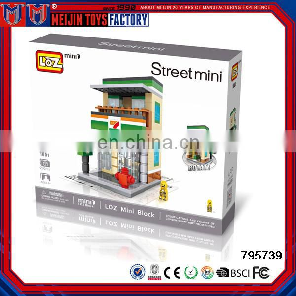 2017 hot sale product intelligence games of plastic building blocks 24 hour convenience