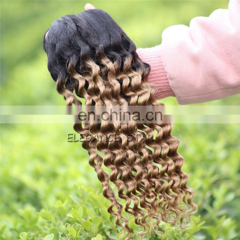 brazilian virgin hair weaving natural blonde deep curly human hair extensions import