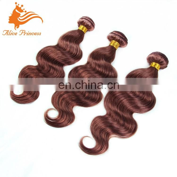 #33 Color Bio Hair Bundles Light Hair Color Body Wave 100 Percent Human Hair Weft Indian Women Hari For You