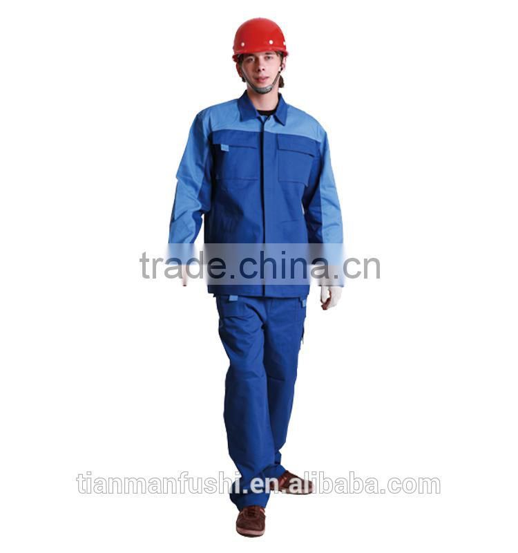 2015 Popular Wholesale Workwear Suit Split Work Clothes Custom Top Quality Work Uniforms For Men