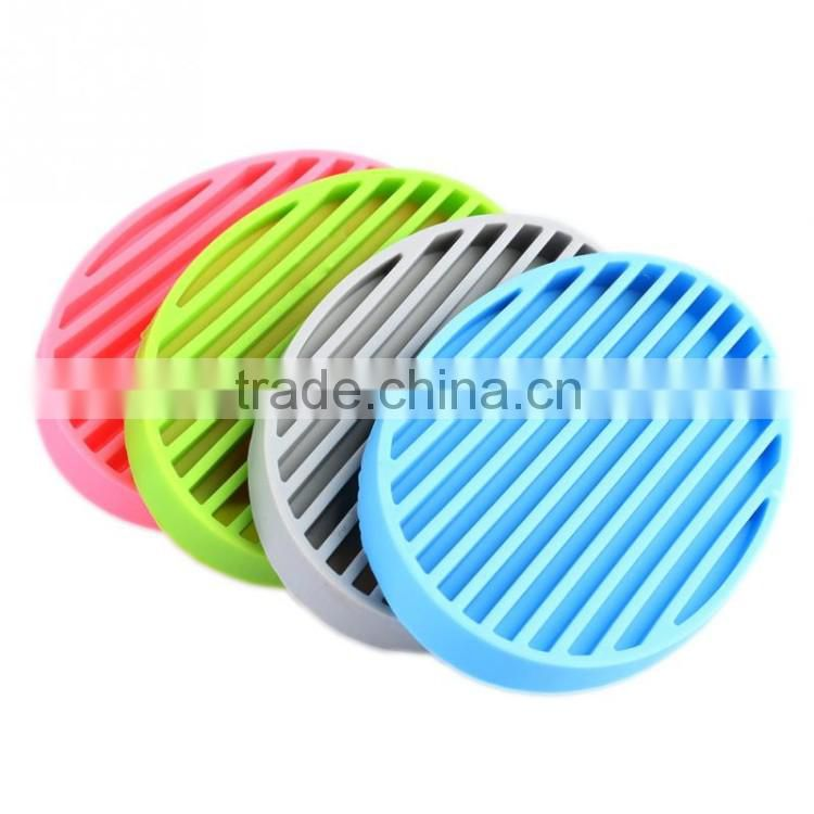 Hot Sale BPA Free Candy Color Silicone Soap Holder for Bathroom