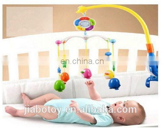 Hot sale Multi-function remote dream rattle bell baby bed toy