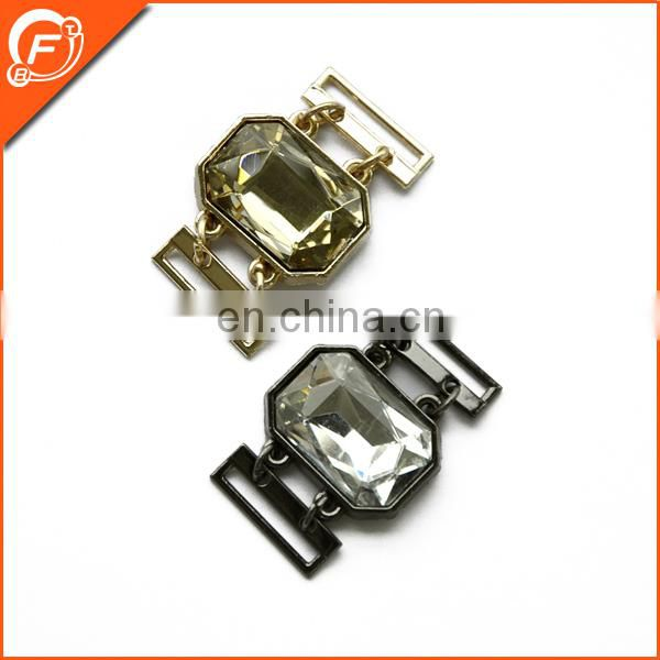 fashion metal decoration rhinestone buckle for evening dress