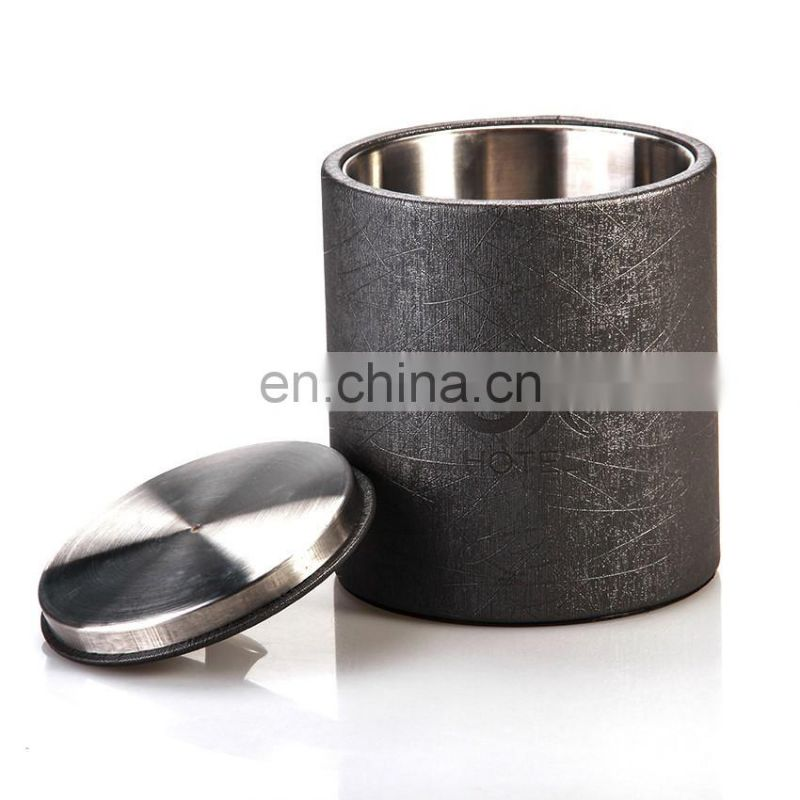 Quality Supplier Excellect Product Restaurant Leather Cover Unique Ice Bucket