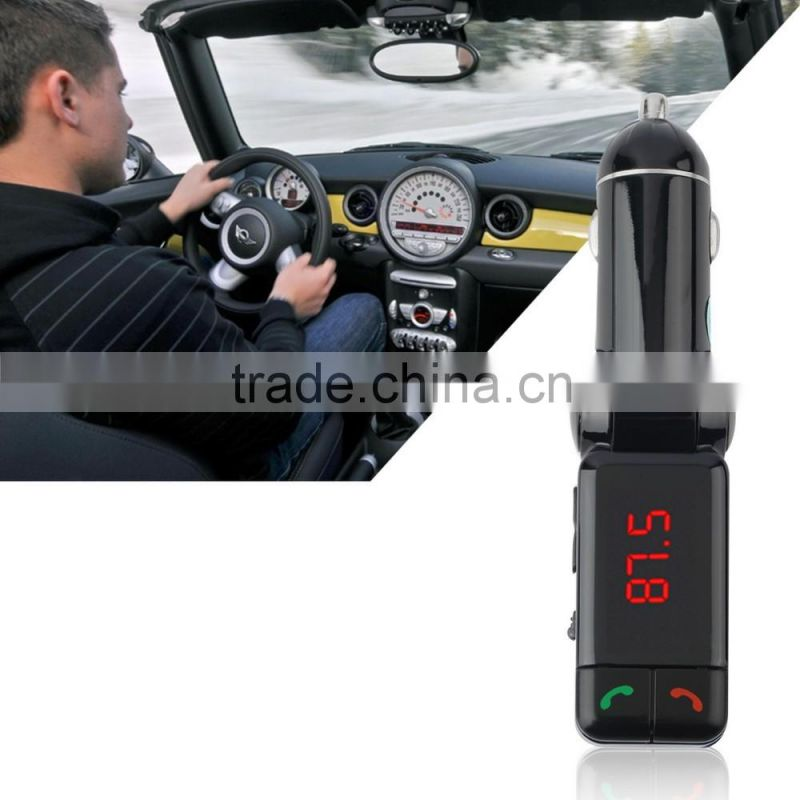Car MP3 Audio Player Bluetooth FM Transmitter Wireless FM Modulator Car Kit HandsFree USB Charger for iPhone & for Android