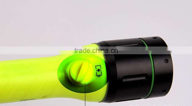 Hot sales factory supply rechargeable waterproof torch light T6 LED diving powerful led flashlight