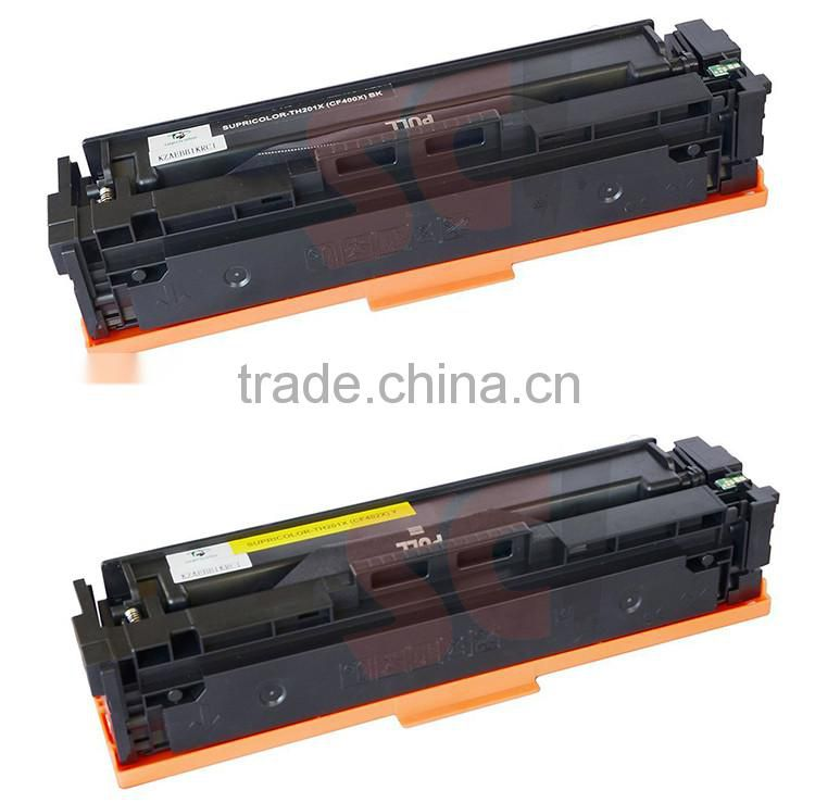 New Hot Wholesale Toner Cartridge CF400A 401A 402A 403A 401X 403X for HP Color LaserJet Pro M252n M252dw MFP