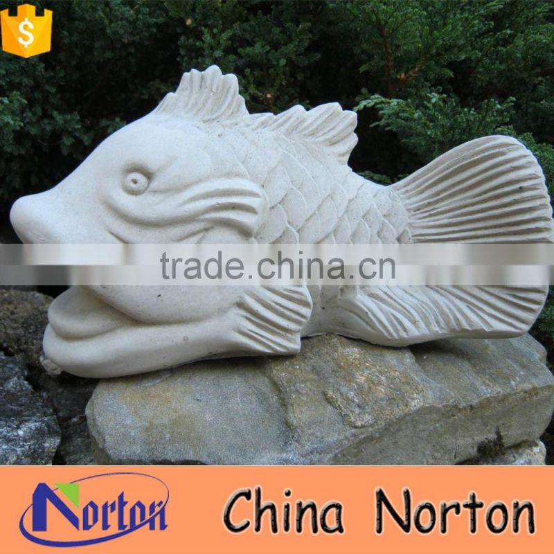 modern abstract sculpture fish marble sculpture NTBM-A014X