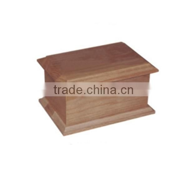 Natrual wooden funeral simple style cremation ashes urn