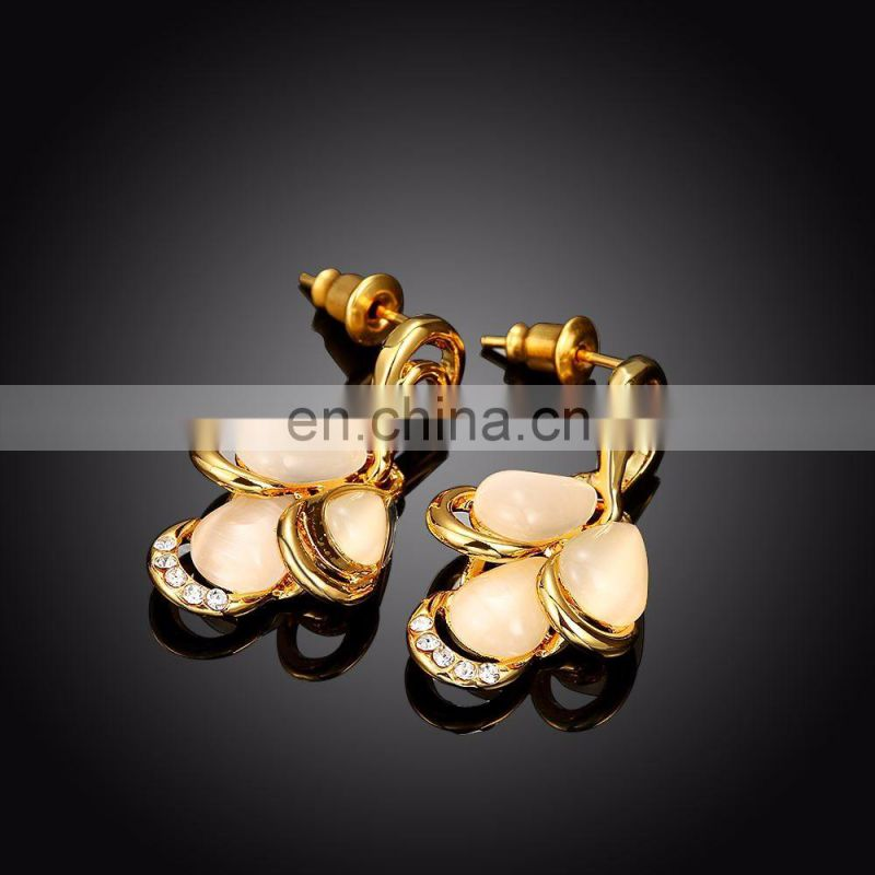 Saudi Gold Earrings Women Jewelry Bead Earrings for Wholesale
