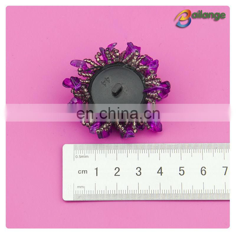 Wholesale designer coat clothing buttons beads button big fashion button for garment