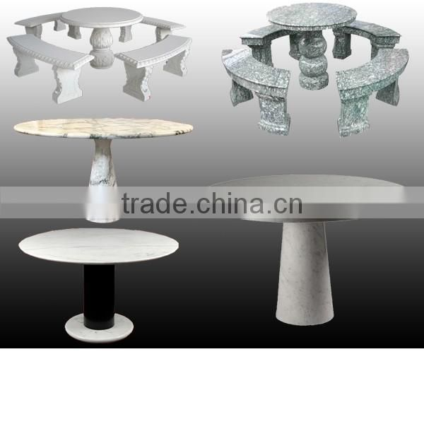 White outdoor marble bench with backs decoration NTS-B001Y