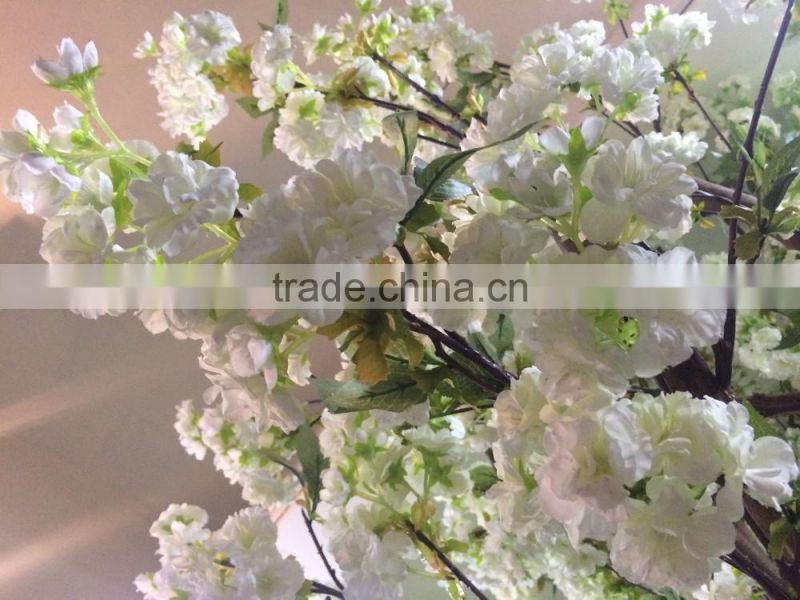 Artificial cherry blossom tree with silk flower and fiberglass trunk in factory price