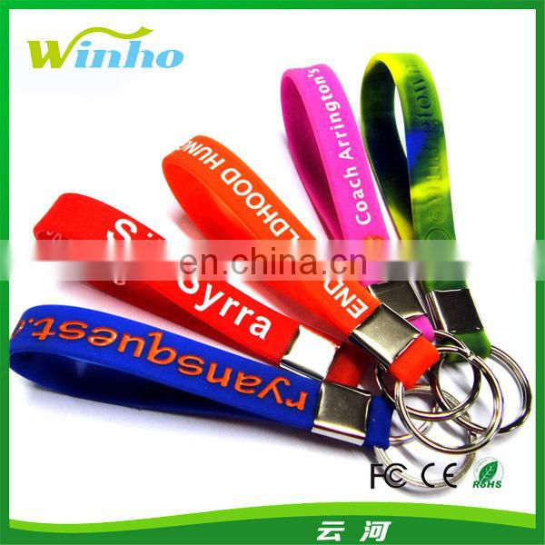 Personalised Printed Ad Loop Key Rings