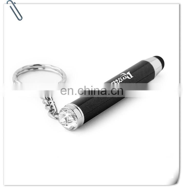 mini led sparkle stylus promotional keychain