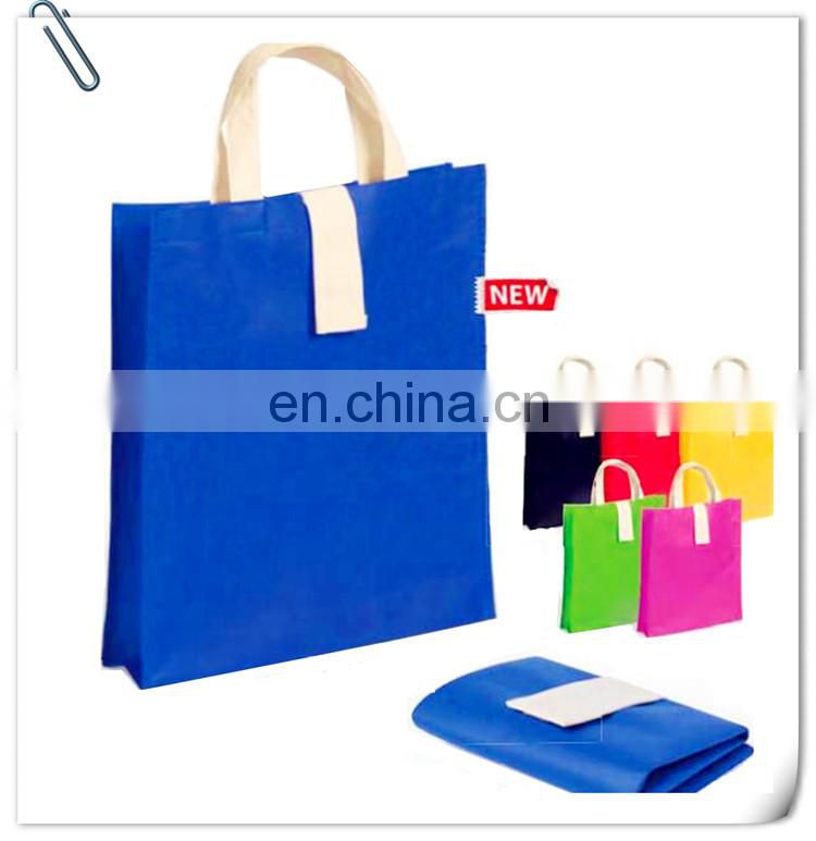 pp stitched non woven bag handle sewing to bottom logo printing promotional bag