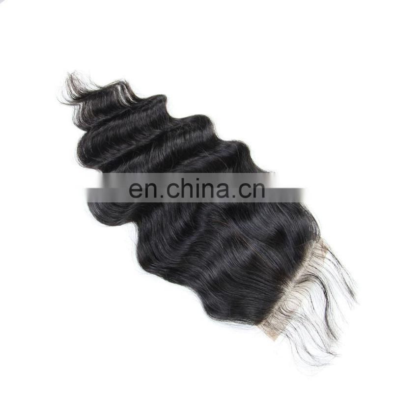 Youth Beauty Hair Malaysian Human Hair Lace Closure Wholesale 4*4inch Silk Swiss Lace Closure in loose wave