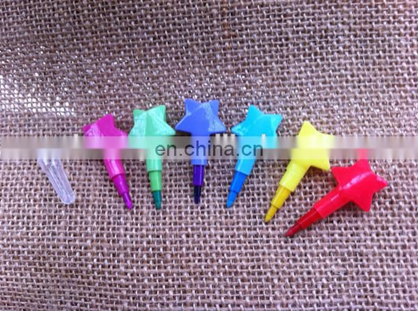 Star Stackable Crayon - 6 Color Set