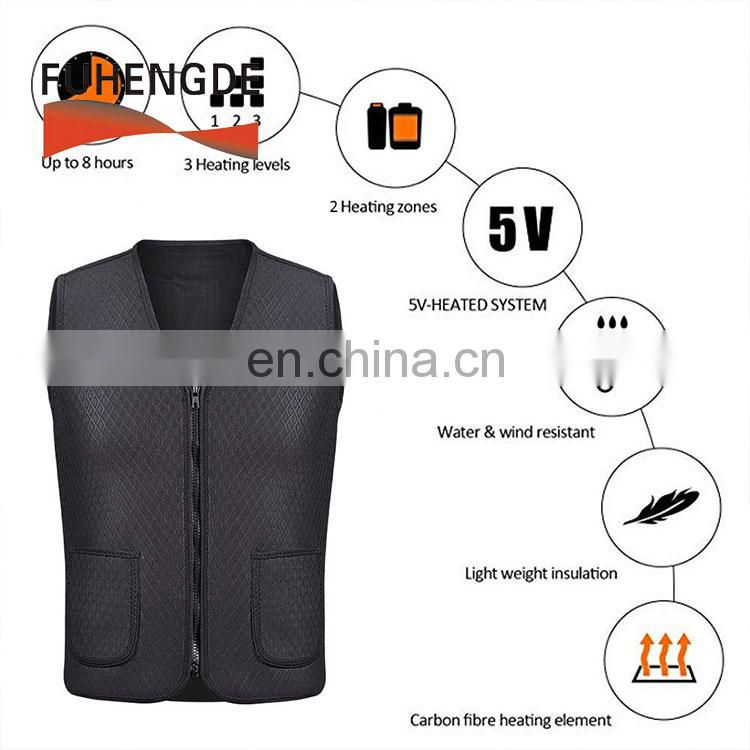 Heating Clothing Washable Serrated Body Warmer Gilet Vest for Camping Cycling Skiing