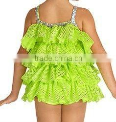 PC065 lovely kids sex girls ruffles dance party wear dress