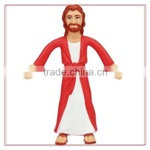 Custom pvc bendable toys figure/3D Jesus image design bendable toys figure/make custom human bendable toys figure