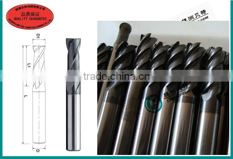 special end mill made from solid carbide