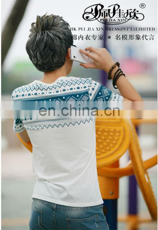 2017 Peijiaxin Casual Latest Design Cheap White Man T-shirt