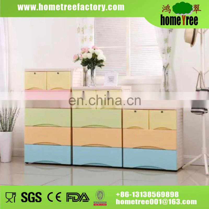 Top Well-known Lockable Cheap Plastic Slim File Cabinets Printing With 5-tier