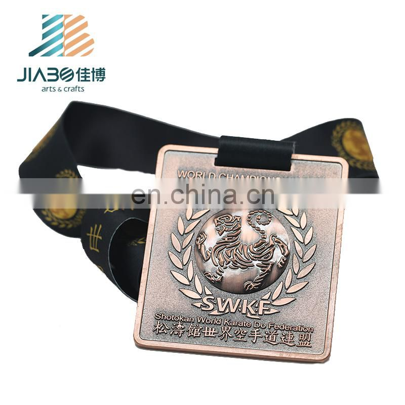 Hot sell high qualty custom Karate sports Challenge award championship metal medal