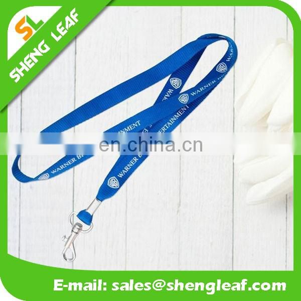 Beautiful polyester silk-printing promotion pen lanyard cell phone neck straps