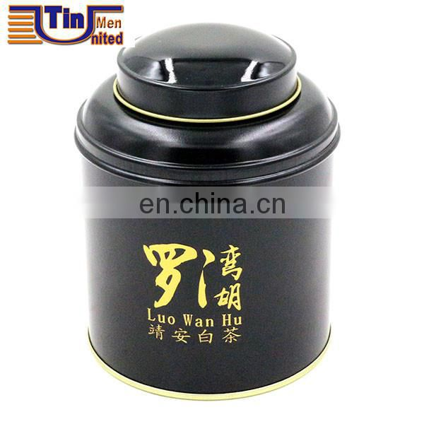 Wholesale custom empty Round can tea metal tin boxe