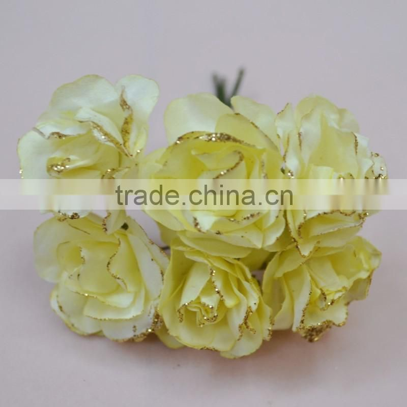 Handwork colorful paper flower Chocolate flower candy box accessories wedding rose flower SZ-001